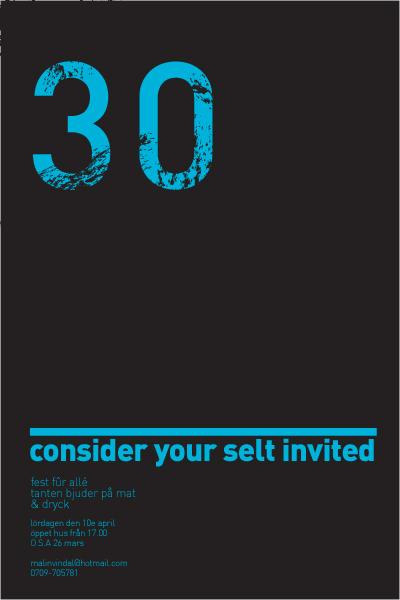 30 års inbjudan 30års skiva | Illustratedmonkey 30 års inbjudan